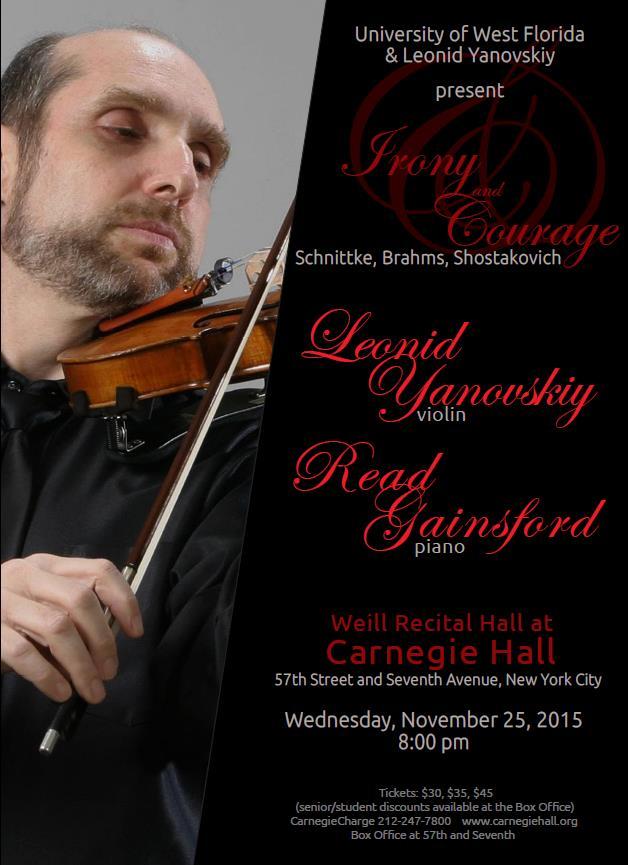 Concert Schedule Dr Leonid Yanovskiy